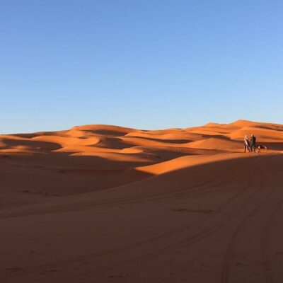 trekking in Erg Chebbi dunes